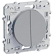 Переключатель 2-кл 10А/250В алюминий ODACE фото