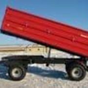 Прицеп тракторный двухосевый T710/2 — 8T с трехсторонним свалом фото