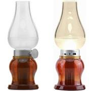 Керосиновая лампа ночник светодиодная (LED), Жёлтый фото