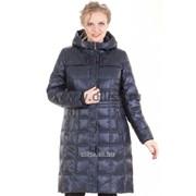 Пальто без меха Mishele 9927 синий фото