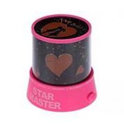 Ночник проектор I love you, малиновый, Star Master фото