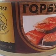Горбуша натуральная ГОСТ без ключа 240 гр (Крым- горбуша с изменениями, но бланшированная) фото