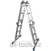 Лестница-трансформер СИБИН алюминиевая 4 x 3 ступ Код: 38851 фото
