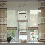 Комплект панельных шторок лён коричневые, 2м, код 10_5п фото