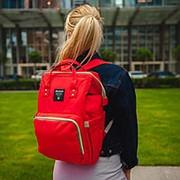 Сумка-рюкзак для мамы (Mummy Bag)/ красный фото
