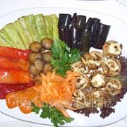 Овощи гриль в ресторане Bachus Dava фото
