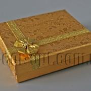 Коробочка золотая 8х6,5см 3822 фото