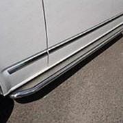 Пороги VW Caravelle 2017-н.в. (с площадкой нерж. сталь 42,4 мм) фото
