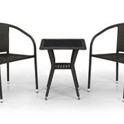 Комплект плетеной мебели из искусственного ротанга Гектор фото