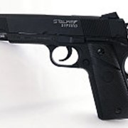 Пистолет пневм. Stalker S1911RD (аналог Colt 1911) к.4,5мм, металл-пласт,120м/с, блоубэк,черный. +100 шар. (12 шт./ уп.) фото