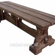 Скамейки из дерева, Деревянная лавка Усадьба. Изготовление фото