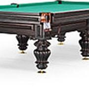 Бильярдный стол для русского бильярда Turin 10ф (черный орех) фото