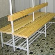 Скамейка двухсторонняя c низкой спинкой (без вешалки) фото