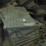 Крупногабаритные стальные отливки, плиты стальные, литые заготовки фото