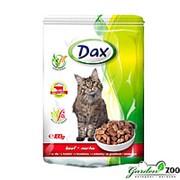 Корм ДАКС для кошек 100г говядина в соусе паучи фото