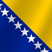 Флаг национальный Босния и Герцеговина фото