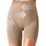 Корректирующие трусы-шорты с высокой талией Ergoforma N 410465, телесные фото