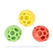 Игрушка для собак резиновая Мяч с сотами, (разные виды - не набор), 1шт. DUVO+ фото
