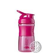 BlenderBottle SportMixer 591мл, Универсальная Спортивная бутылка(шейкер) с венчиком, малиновая фото