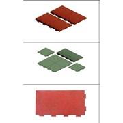 Резиновая плитка, резиновое покрытие фото