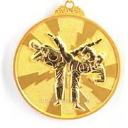 Медаль рельефная таэквондо - золото фото