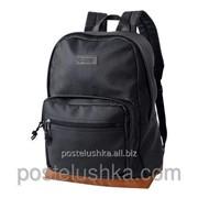 Рюкзак комета DERBY с карманом для ноутбука 15* кожзам Черный фото