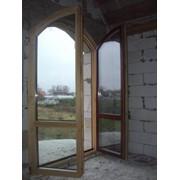 Окна деревянные. Окна из сосны. Окна из дуба. Производитель фото