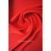 Шифон атлас H7442 красный алый фото