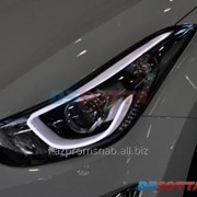 Левая фара, оптика, габариты на Hyundai Elantra 2014 г.в. (Елантра) фото