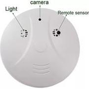 Мини видео регистратор(детектор дыма с камерой) HD пульт ДУ фото