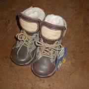 Детские зимние кожаные ботиночки Bartek 20р. фото