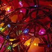 Электрогирлянда внутренняя , 6м, 100 минилампы, разноцветная, 5 режимов фото