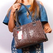 Прямоугольная сумка графит-коричневый фото