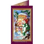Набор-открытка для вышивки бисером «С Новым Годом-5» фото