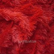 Мех для игрушек - травка, цвет красный. МИ 06 фото