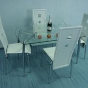 Стол обеденный белый матовый DT1-004 фото