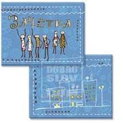 Обложка для зачётки Человечки на голубом фоне Артикул: 042002обл206001 фото