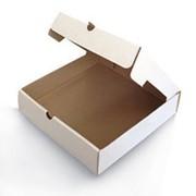 Коробка для пиццы 230х230х50 мм микрогофрокартон бело/бурый фото