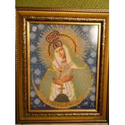 Матерь Божья Остробрамская, иконы из бисера фото