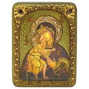 Подарочная икона Феодоровская икона Божией Матери на мореном дубе фото