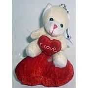 Зайка/Мишка на сердце с присоской 5740 12см фото