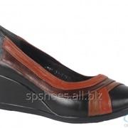 Туфли женские 781, коричневый, черный фото