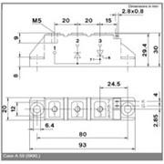 Модуль диодно-тиристорный Semikron Semipack™ SKKL92/16E фото