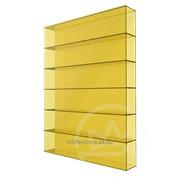 Сотовый поликарбонат 8мм желтый Soton фото
