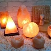 Солевые лампы, подсвечники из гималайской соли фото