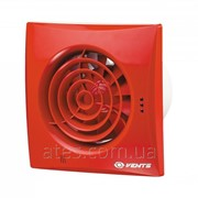 Бытовой вентилятор d100 Вентс 100 Квайт червоний RAL 3013 фото