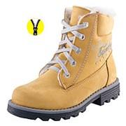 652049-51 желтый ботинки школьные нат. кожа 32-1, 33-1, 34-1, 35-1, 36-1, 37-1, 37,5-1 Р-р 37 фото