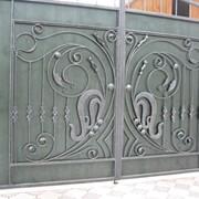 Ворота распашные промышленные фото