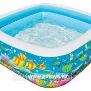 57471 INTEX Надувной детский бассейн Аквариум 159х159х50 см фото