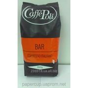 Кофе в зернах Caffe Poli Rossa Bar 1 кг 50/50 фото